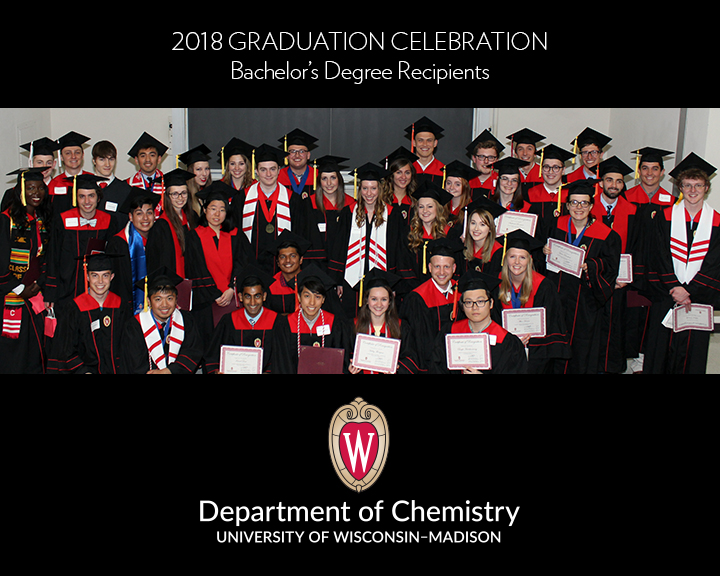 Undergraduates at the UW-Madison Department of Chemistry Graduation Celebration