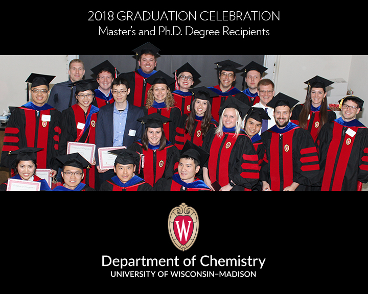 Graduates at the UW-Madison Department of Chemistry Graduation Celebration