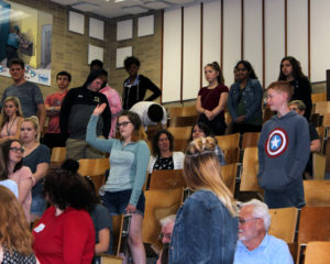 Students in the audience