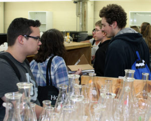 Students and teachers in a lab