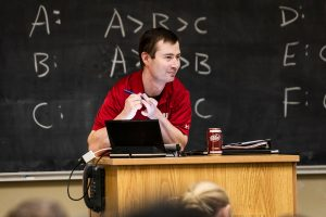 His warmness has won him fans from among his students, some of whom share Bowman's messages of encouragement and cheer on his love of Dr Pepper on a popular Facebook page spoofing university life.