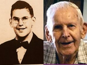 Old photo of Bill next to new photo of Bill
