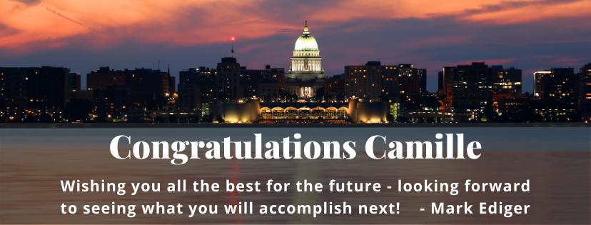 Congratulations Camille!