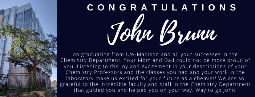 Congratulations John Brunn