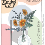 magazine cover with flowers in a flask