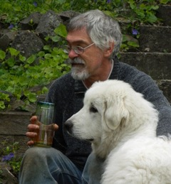 Pat Meier with dog